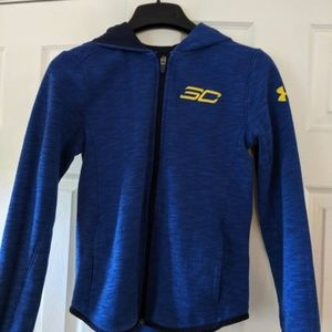 Under armour zippered hoodie youth size m